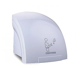 Hand dryer with photocell (white plastic)