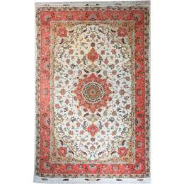Tabriz Exclusive 319X201 Persian Style Wool & Silk Rug