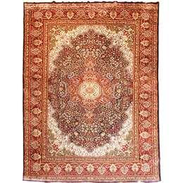 Kashmir silk 375X280cm Oriental Silk Rug