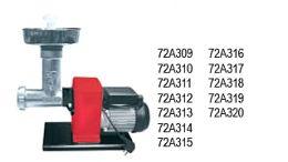 Ηλεκτρική μηχανή αλέσεως κιμά-λουκάνικου  Ιταλίας(WATT400)  με ανοξείδωτο δοχείο και κόσκινο Ø8  παραγωγή 20 kg/h