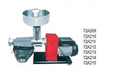 Μηχανή αλέσεως ντομάτας OMRA Ιταλίας ηλεκτρική(WATT 600) με ανοξείδωτο δοχείο και πλαστικό συλλέκτη παραγωγη 400kg/h