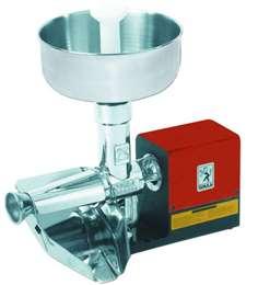 Ηλεκτρική μηχανή αλέσεως ντομάτας με ανοξείδωτο δοχείο και inox συλέκτη NL3 300 kg made in italy