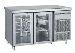 Ψυγείο Πάγκος Συντήρηση Με 2 Πόρτες Τζαμιού GN