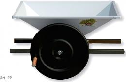 Σπαστήρας χειροκίνητος με κυλίνδρους - αναδευτήρα - κοχλία 50x80 Grifo PP