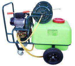 Ψεκαστικό τροχήλατο με κινητήρα 2 hp ιταλίας αντλία εμβολοφόρα 100 λίτρων 40 bar 22 lit