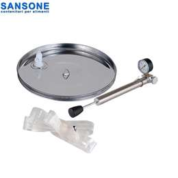 SANSONE 740mm -  Καπάκι Inox πνευματικό - πλωτήρας