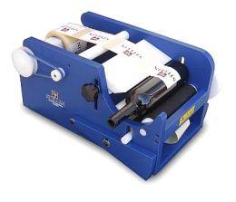 Χειροκίνητη επιτραπέζια ετικετέζα διπλής όψης STELLIN για κυλινδρικές φιάλες 50-120mm