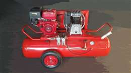 Συγκρότημα αέρος βενζινοκίνητο ιταλίας 300lit με κινητήρα honda 13hp