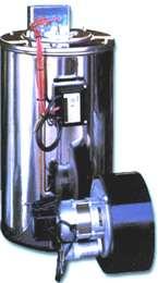 Aνοξείδωτος καυστήρας με ανοξείδωτη σερμπαντίνα ζεστού νερού 1500 lt/hr