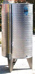 Ανοξείδωτες κώνικες δεξαμενές 500Lt TOSCANA (λαδιού - κρασιού)