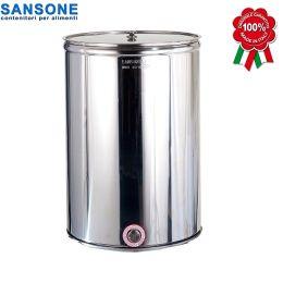 Δοχείο κρασιού ανοιχτό με απλό καπάκι ΙΝΟΧ SANSONE 100LT