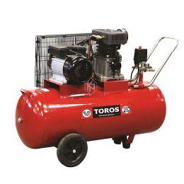 Αεροσυμπιεστής Toros μονοφασικός ZA65-100 100ltr 3hp