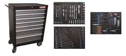 Εργαλειοφόρος τροχήλατος επαγγελματικός με 263 εργαλεία