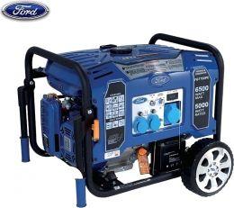 Γεννήτρια βενζίνης FORD με μίζα, μπαταρία και ρόδες - Μεγάλη Αυτονομία