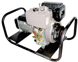 Ηλεκτρογεννήτρια πετρελαίου μονοφασική 220V 6kva 10hp με avr μίζα linz made in italy