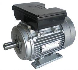 Ηλεκτρικός κινητήρας μονοφασικός αλουμινίου με διακόπτη καλώδιο και φις 1400 στροφών 1.5 hp