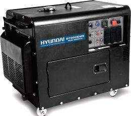 Ηλεκτρογεννήτρια Πετρελαίου D7000ETS 10HP 7KVA 380V AVR Hyundai