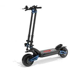 """Ηλεκτρικό σκούτερ ZERO 11x, Αυτονομία 160 Km (LG Battery), Ταχύτητα 110 Km / h, Κινητήρας 2 x 1600W, Πνευματικοί τροχοί 11 """", Υδραυλικές αναρτήσεις (Μαύρο / Μπλε)"""