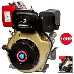 Κινητήρας πετρελαίου αερόψυκτος με μίζα LD 186F 10HP ΚΩΝΟΣ 25,4mm