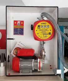 Κιτ αντλία ανοξείδωτη σε βάση, με μετρητή, λάστιχο, μάνικα, φίλτρο 0,5HP rover pompe italy