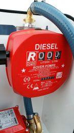 Κιτ αντλία σε βάση με μετρητή, λάστιχο, μάνικα, φίλτρο 0.5HP rover pompe italy
