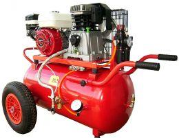 Βενζινοκίνητος αεροσυμπιεστής amico με επιταχυντή, κινητήρας HONDA 5,5hp, 50lt
