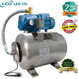 Πιεστικό συγκρότημα νερού 20Lt 1HP LEPONO XJm101L ΙΝΟΧ