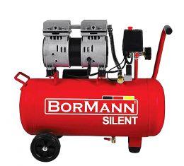 BORMANN Aεροσυμπιεστής μονομπλόκ αθόρυβος χωρίς λάδι 1hp MY2400