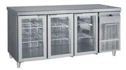 Ψυγείο Πάγκος Συντήρηση Με 3 Πόρτες Τζαμιού GN