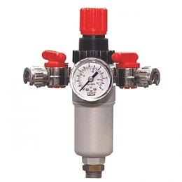 Ρυθμιστής πίεσης σπείρωμα 3/8 με δύο εξόδους