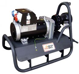 Γεννήτρια τριφασική με πολλαπλασιαστή 1500στροφών με AVR 36KVA sincro made in italy