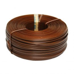 Πλαστικοποιημένο σύρμα καφέ σε ρολό για ηλεκτρικό εργαλείο - Tiefix - 90 m