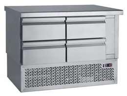 Ψυγείο Πάγκος Συντήρηση Με 4 Συρτάρια GN Και Μηχανή Κάτω