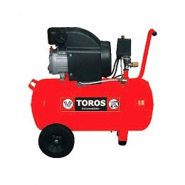 TOROS Αεροσυμπιεστής μονομπλόκ 24lt - 2.0 HP