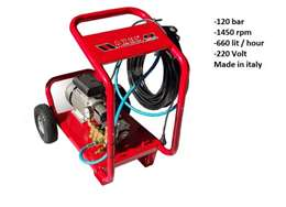 Yδροπλυστικό μηχάνημα 120 bar 660 lit/hour made in italy
